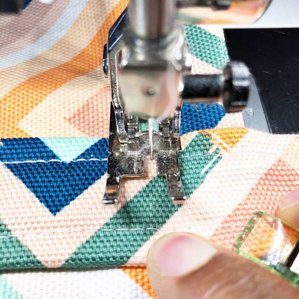 Canvas Market Bag Tutorial: Attaching the bag handles