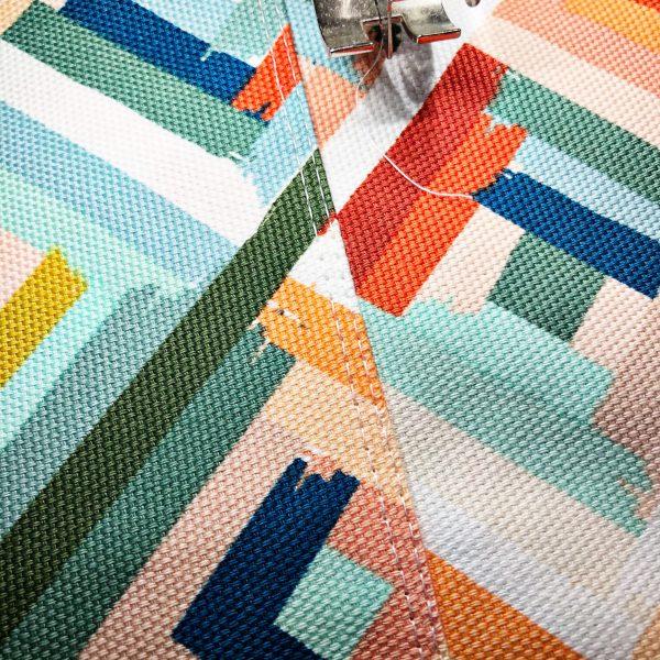 Canvas Market Bag Tutorial: Attaching the bag bottom