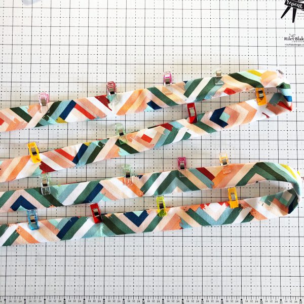 Canvas Market Bag Tutorial: Preparing the fabric for sewing