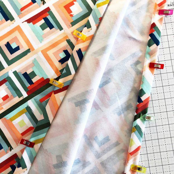 Canvas Market Bag Tutorial: Attaching the handles
