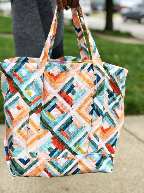 Canvas Market Bag Tutorial: Finished Project